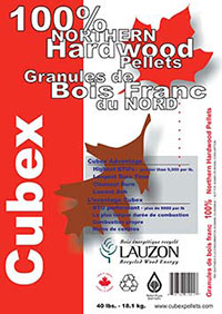 Cubex 100% Northern Hardware pellet fuel